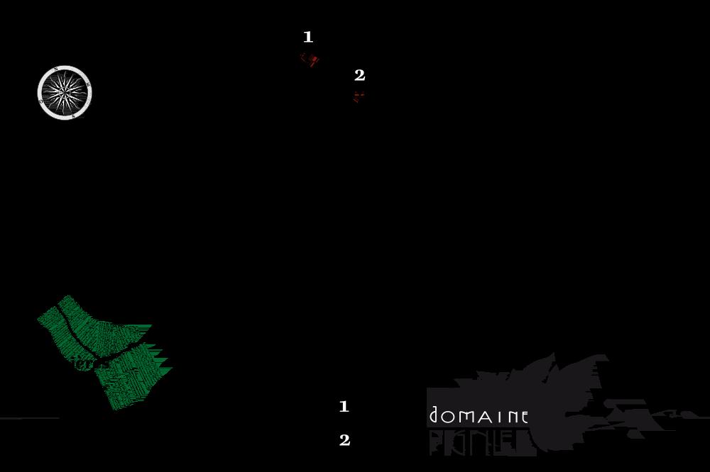 Carte des vignes du Domaine Pignier